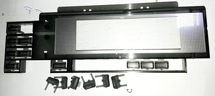 Korg TR61 - broken buttons repair