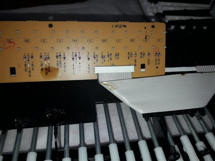 Yamaha DGX-630 Disassembly and Repair Pictures | keyboardservis cz