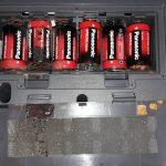 Vyteklé baterie klávesy Casio