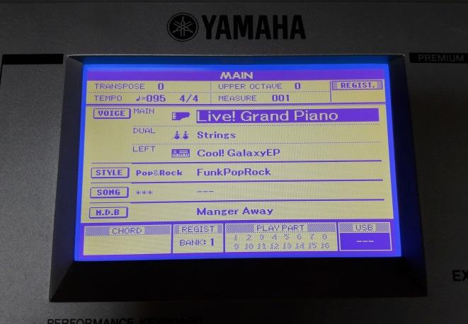 Yamaha PSR-S500 po výměně displeje
