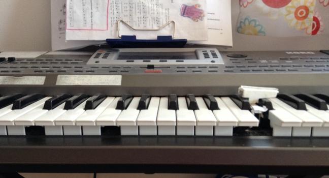 keyboard with broken keys